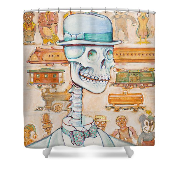 Toy Bones Shower Curtain