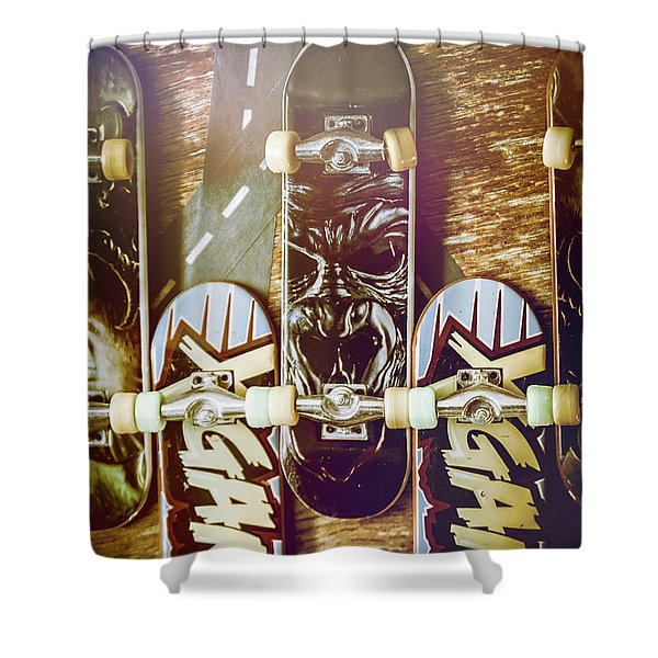 Toy Skateboards Shower Curtain