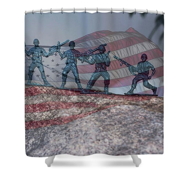 Toy Soldiers Shower Curtain