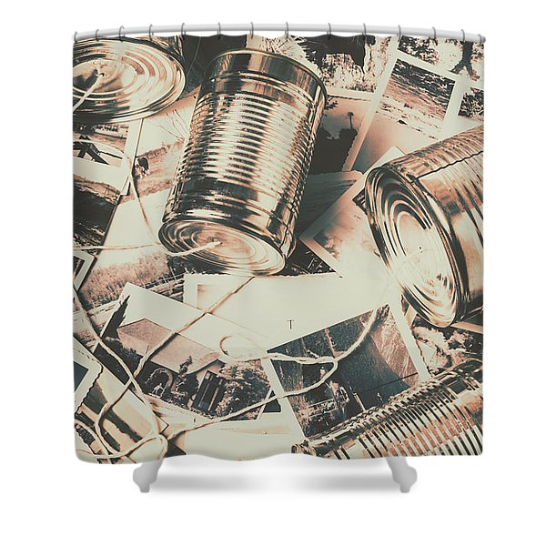 Toy Telecommunications Shower Curtain