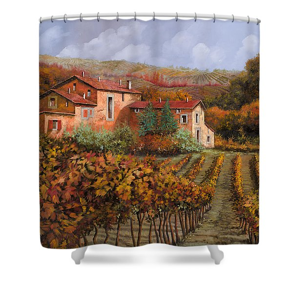 tra le vigne a Montalcino Shower Curtain
