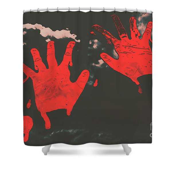 Trace Of A Serial Killer Shower Curtain
