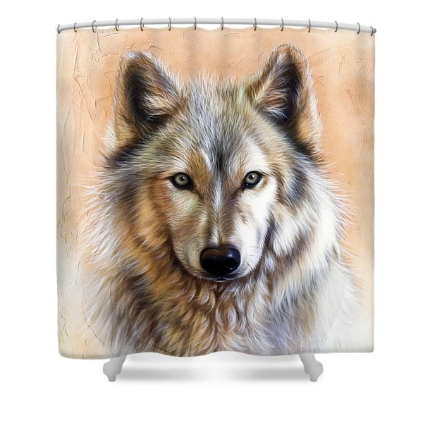Shower Curtain featuring the painting Trace Two by Sandi Baker