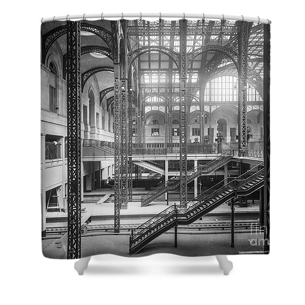Track Level And Concourses Pennsylvania Station New York Shower Curtain