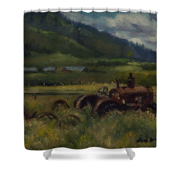 Tractor From Swan Valley Shower Curtain