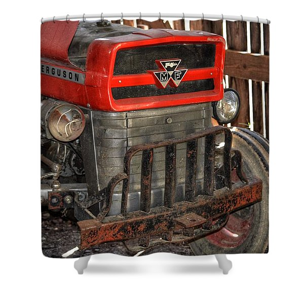 Tractor Grill  Shower Curtain