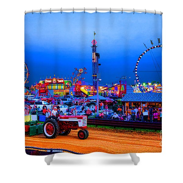 Tractor Pull At The County Fair Shower Curtain