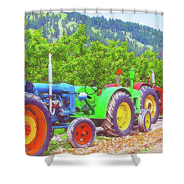 Tractor Row Shower Curtain