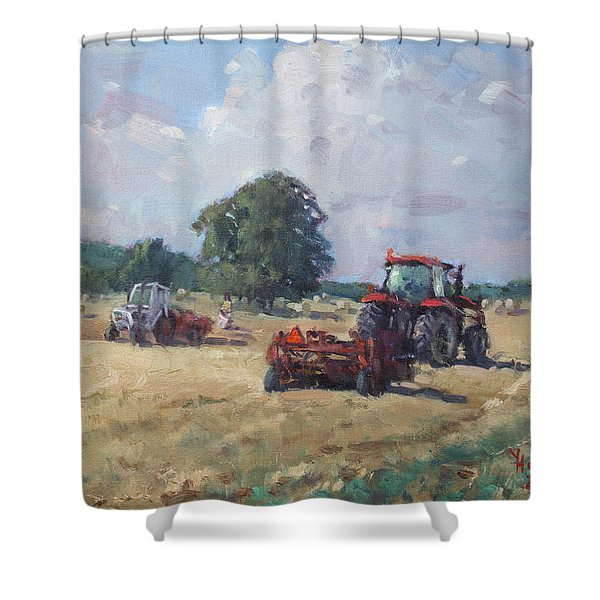 Tractors In The Farm Georgetown Shower Curtain