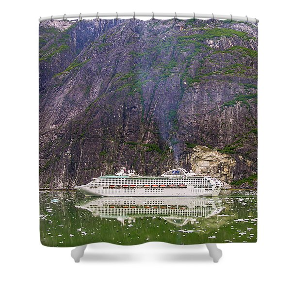 Tracy Arm Fjord Shower Curtain