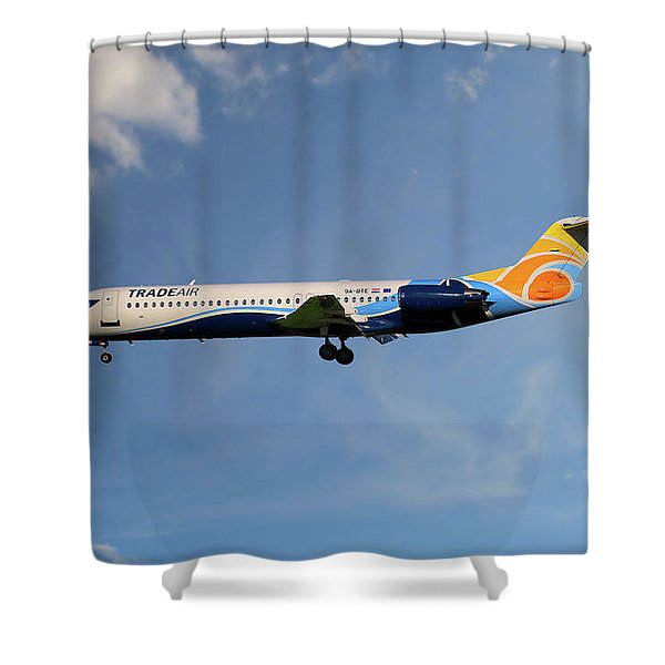 Trade Air Fokker 100 Shower Curtain