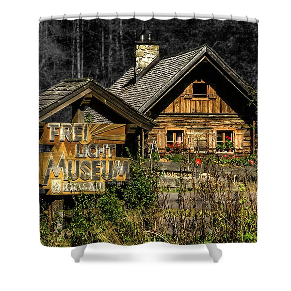 Traditional Austrian Wooden House Shower Curtain