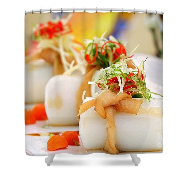 Traditional Chinese Hakka Rice Noodle Roll Shower Curtain