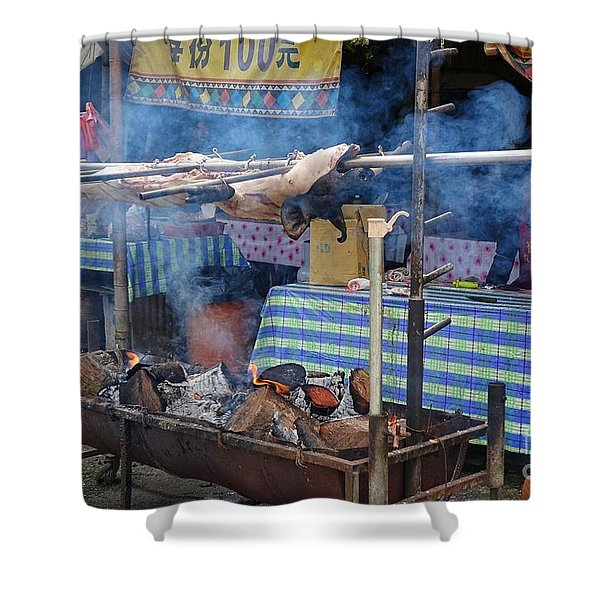 Traditional Market In Taiwan Native Village Shower Curtain