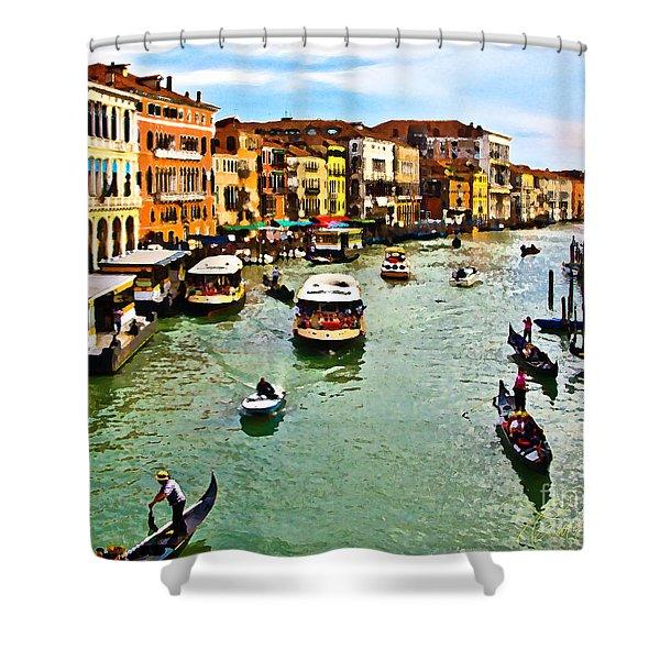 Traghetto, Vaporetto, Gondola  Shower Curtain