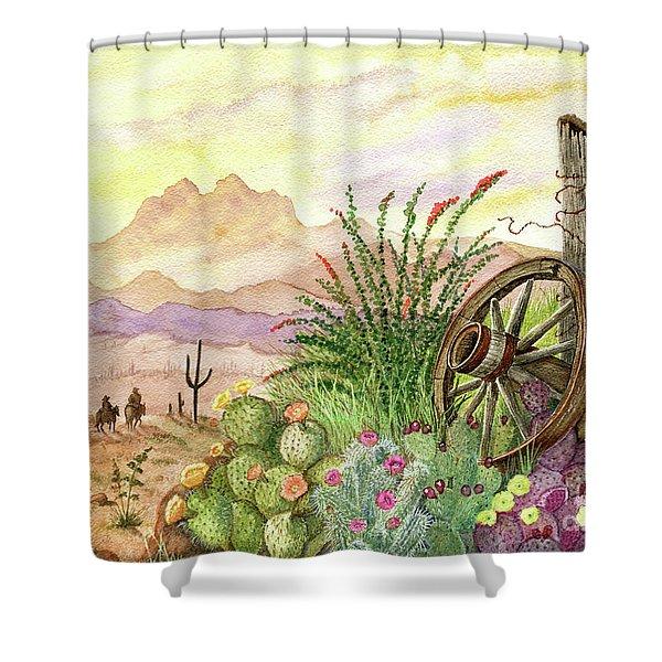 Trail At Sunrise Shower Curtain