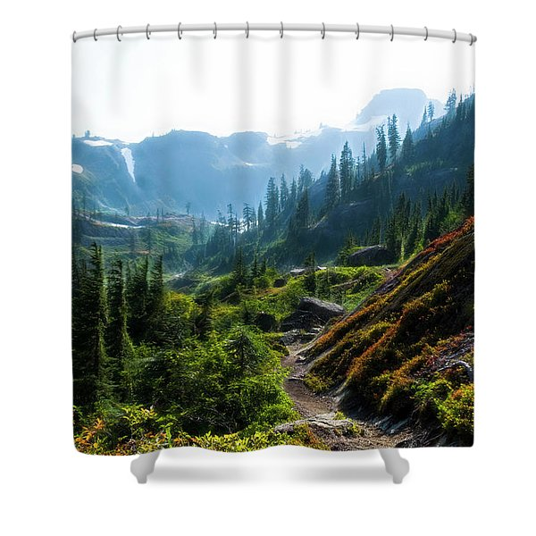 Trail In Mountains Shower Curtain