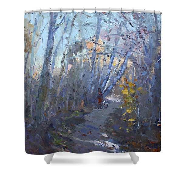 Trail In Silver Creek Valley Shower Curtain