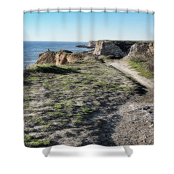 Trail On The Cliffs Shower Curtain