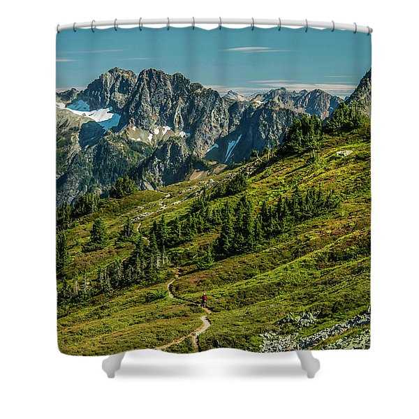 Trail Roaming Shower Curtain
