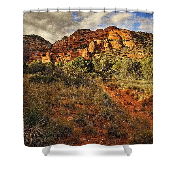 Trailing Along Txt Shower Curtain