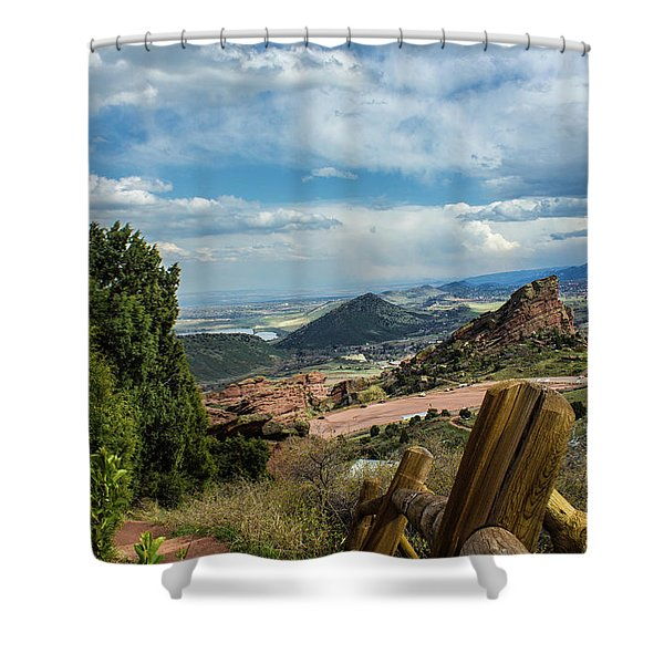 Trails At Red Rocks Shower Curtain
