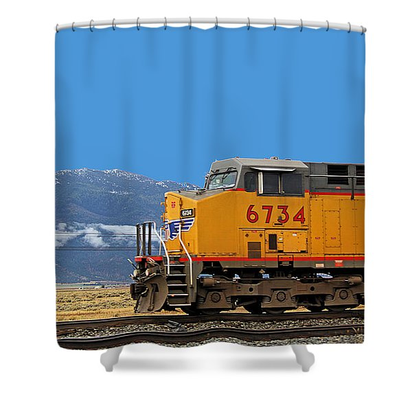 Train In Oregon Shower Curtain
