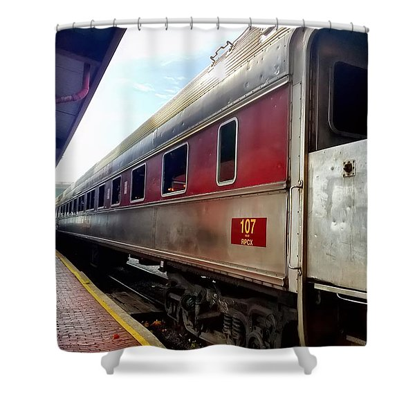 Train Station Shower Curtain