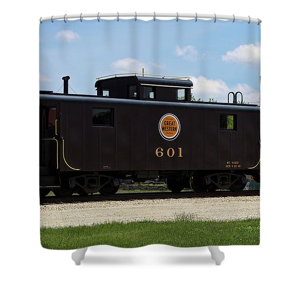 Trains Caboose 601 Great Western Shower Curtain