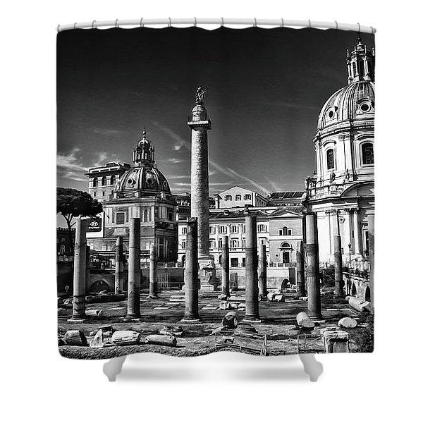 Trajan's Forum - Forum Traiani Shower Curtain