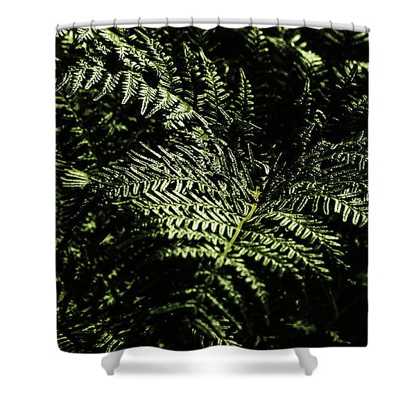 Tranquil Botanical Ferns Shower Curtain