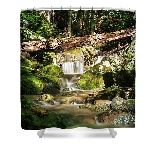 Tranquil Flow Shower Curtain