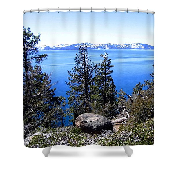 Tranquil Lake Tahoe Shower Curtain