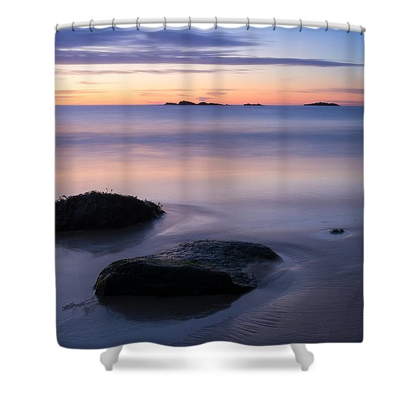 Tranquil Morning Singing Beach Shower Curtain