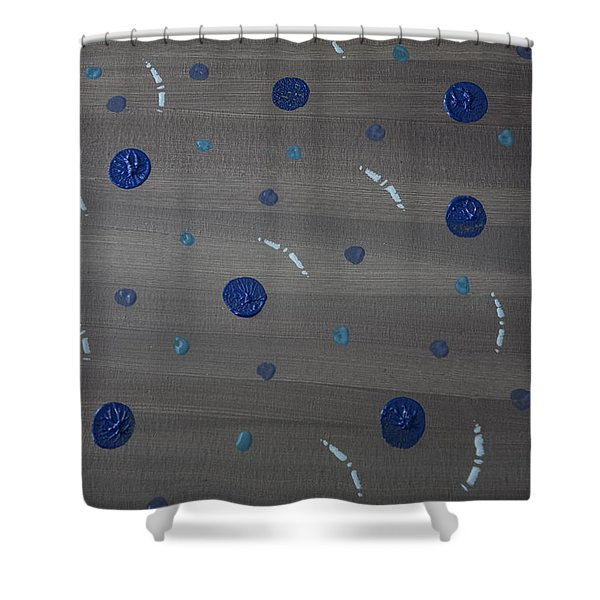 Tranquil Acrylic Abstract Shower Curtain