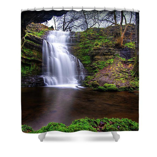 Tranquil Slow Soft Waterfall Shower Curtain