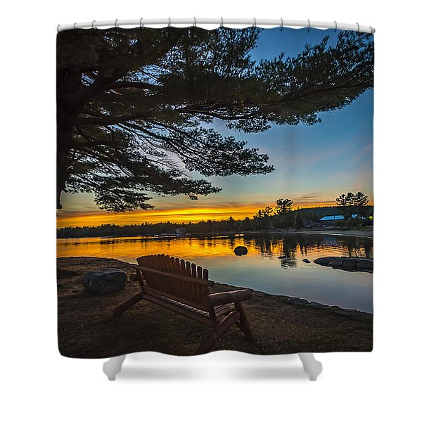 Tranquility At Sunset Shower Curtain