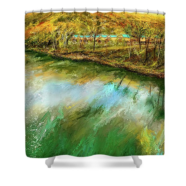 Tranquility Cottages - Anglers White River Resort Arkansas - Mountain View, Arkansas Shower Curtain