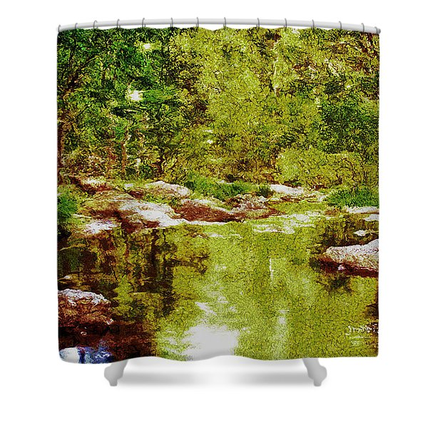 Tranquility Mirage Shower Curtain