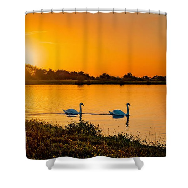 Shower Curtain featuring the photograph Tranquility by Nick Bywater