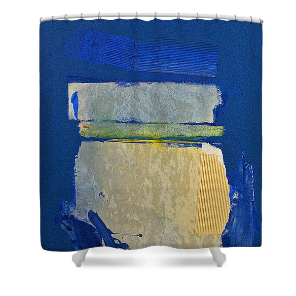 Shower Curtain featuring the painting Transition 5 Slabs by Cliff Spohn