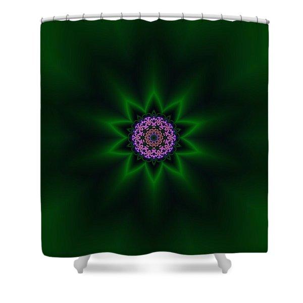 Shower Curtain featuring the digital art Transition Flower 10 by Robert Thalmeier