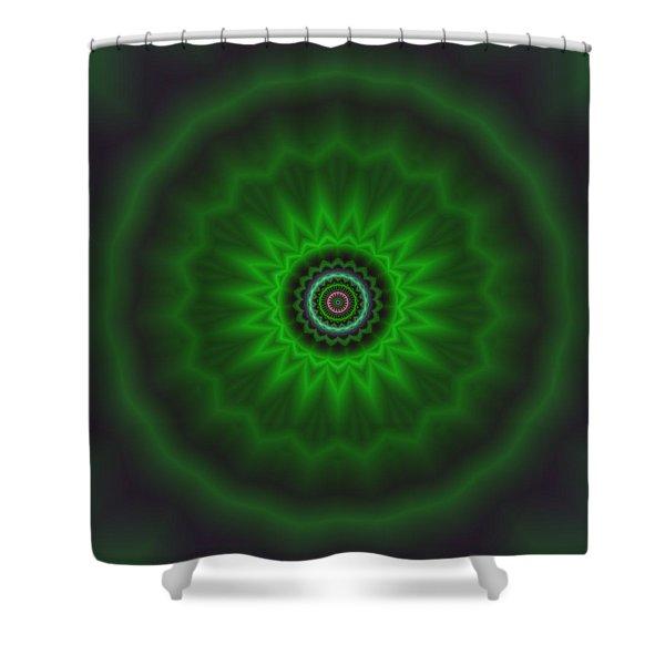 Shower Curtain featuring the digital art Transition Flower 2 by Robert Thalmeier