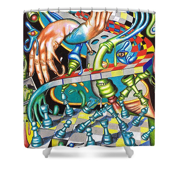 Transmutation Of Time, Reflex, And Observation Shower Curtain