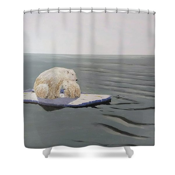 Shower Curtain featuring the painting Stranded by Kevin Daly