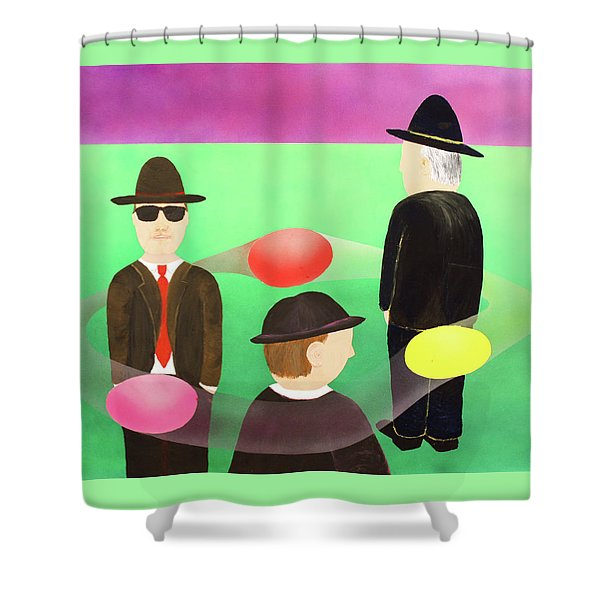 Traveling In The Right Business Circles Shower Curtain