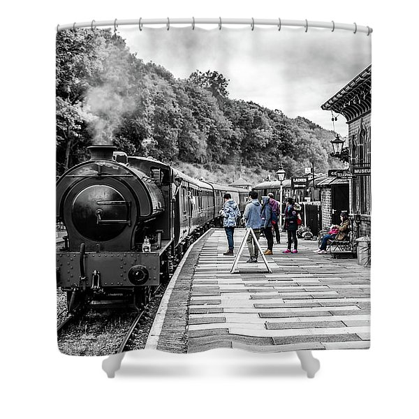 Shower Curtain featuring the photograph Travellers In Time by Nick Bywater