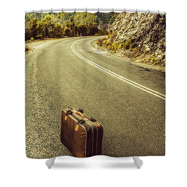 Travelling Brief Shower Curtain