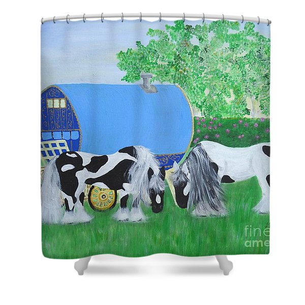 Travelling Light Shower Curtain