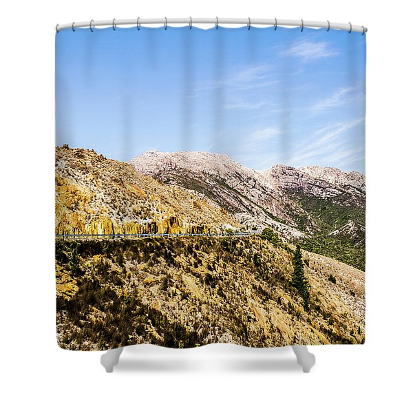 Travelling Rugged Alps Shower Curtain
